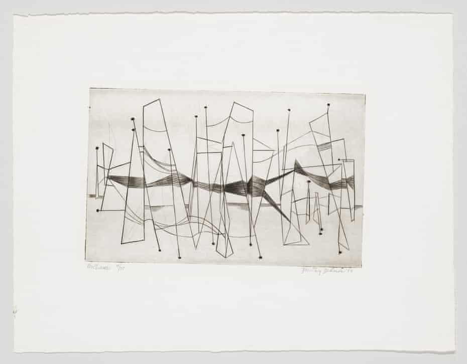 Nocturne by Dorothy Dehner (1954).
