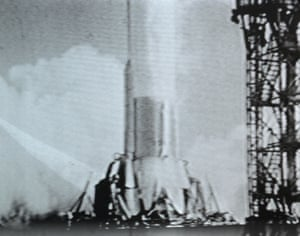 The Saturn V rocket launches Apollo 11 from Kennedy Space Centre's Launch Complex Pad 39A at 9:32 a.m. EDT. on Wednesday 16 July 1969