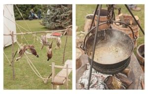 Various game birds and pork stew in the Roman camp