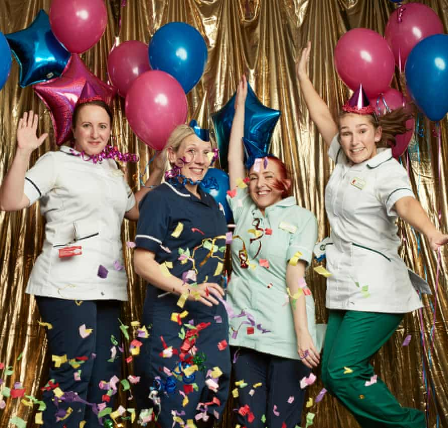 Physiotherapist Kelly Harrison, ward manager Becky Kidd, clinical support worker Danielle Dove, and occupational therapist Emma Kersey