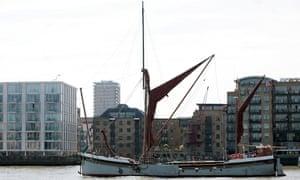 Barge on Thames