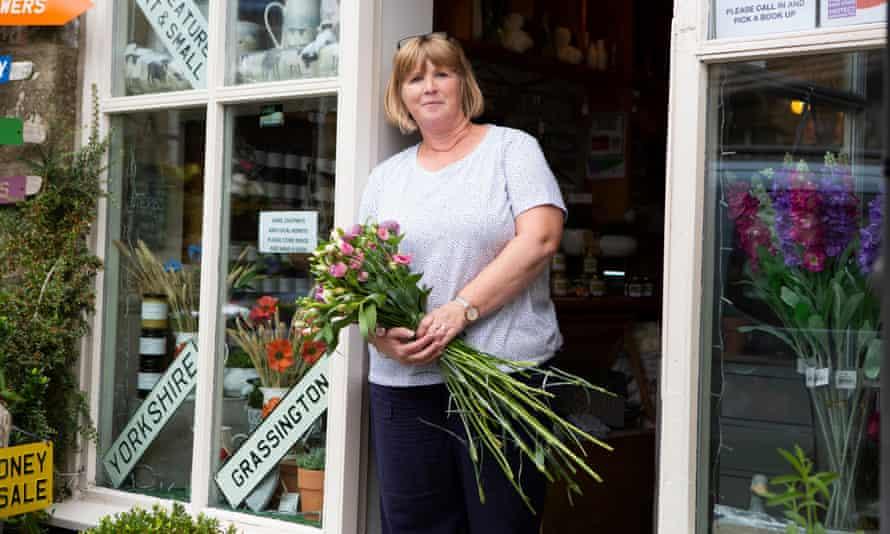 Florist Julia Metcalfe in her shop, the Flower Loft