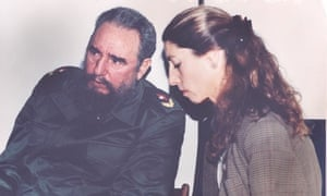 Ann Louise Bardach interviewing Fidel Castro for Vanity Fair in January 1994.