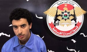 Hashem Abedi, brother of the Manchester Arena bomber, inside the Tripoli-based Special Deterrent anti-terrorism force unit.