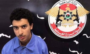 Hashem Abedi pictured being held by the Special Deterrence Force