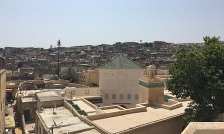 View from the roof of Khizanat al-Qarawiyyin.