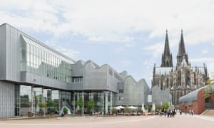 Exterior of the Ludwig Museum, Cologne, Germany.