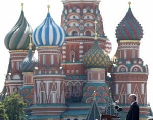 President Vladimir Putin addresses the parade