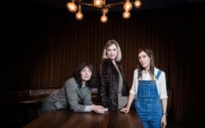 Sarah Blasko, Sally Seltmann  and Holly Throsby photographed at the Golden Age Cinema and Bar.