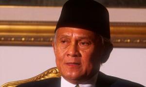 BJ Habibie in his office in Jakarta, Indonesia, in 1999.