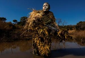 Member of an all-female anti-poaching unit.