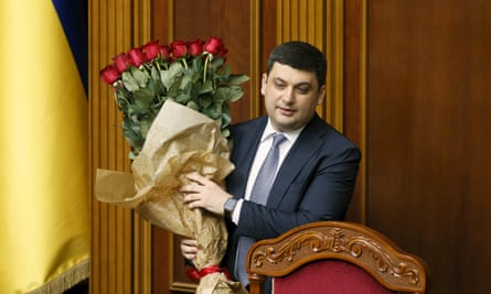 Volodymyr Groysman in parliament