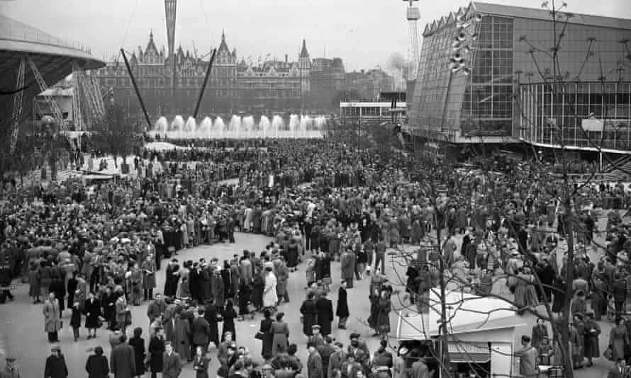 The Festival of Britain in 1951 on the South Bank in London.