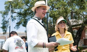 Paul Feig with Kristen Wiig on the set of Bridesmaids … 'I'm just desperate for people to see my movies.'