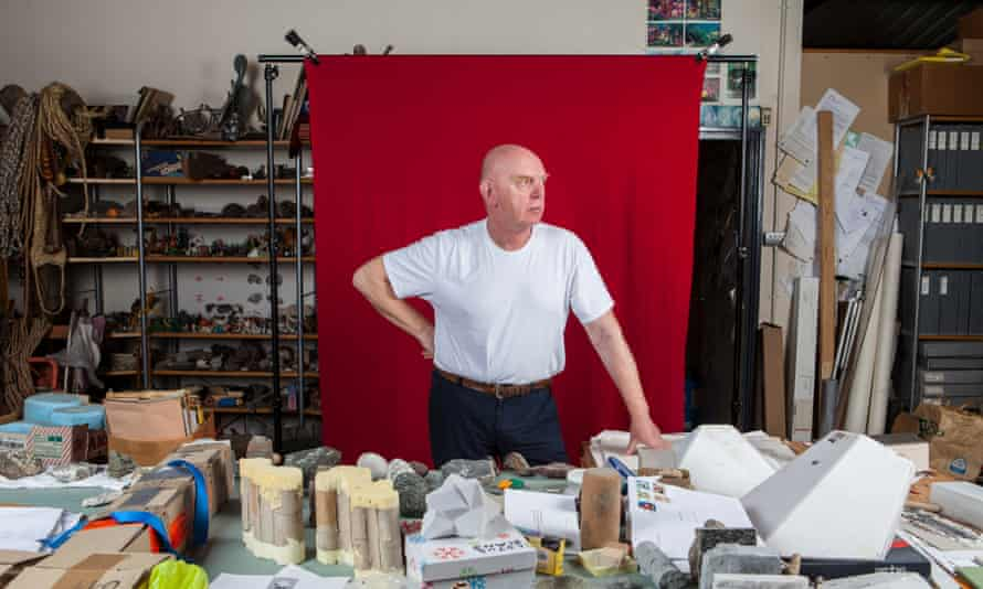 Richard Deacon photographed in his studio in South London