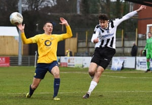 Max Kilman in action for Maidenhead United against Torquay United earlier this year.