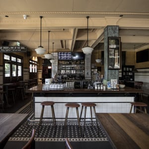 A general view of inside the Four in Hand Hotel in Paddington.