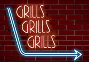 Grills grills grills illustration