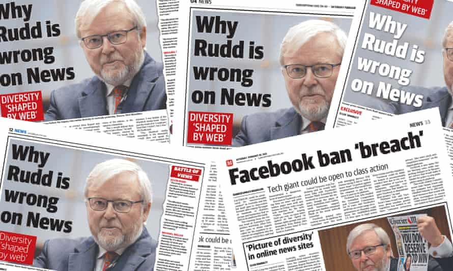 Similar Kevin Rudd stories in various News Corp papers