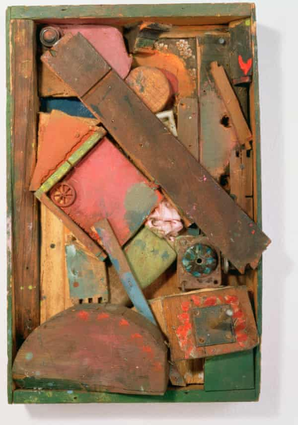 Gifted to Robert Rauschenberg … Expanded from Small Red Wheel, one of the collages that followed the break-in.