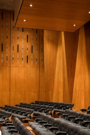 'Shimmering rhythms of timber': a detail of the Purcell Room.
