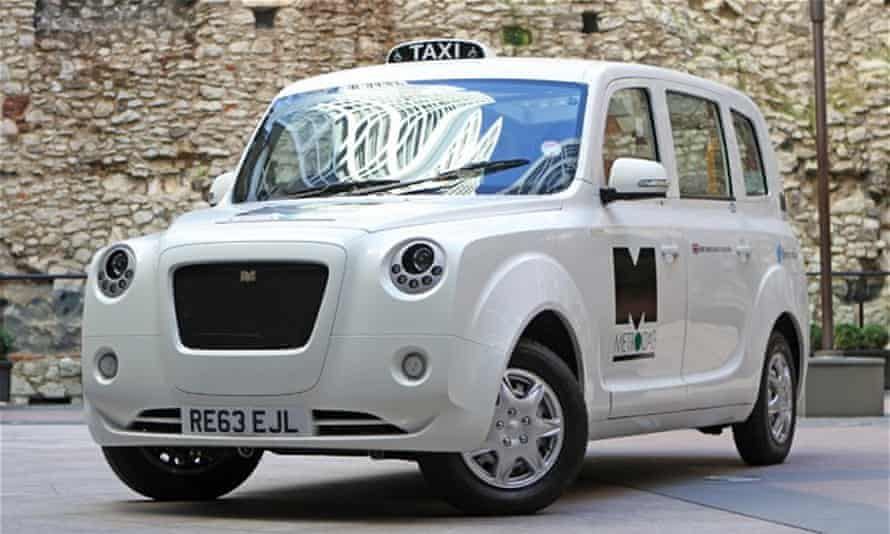 The new Green taxi, Metrocab – the only zero-emissions capable black cab currently operating in London.