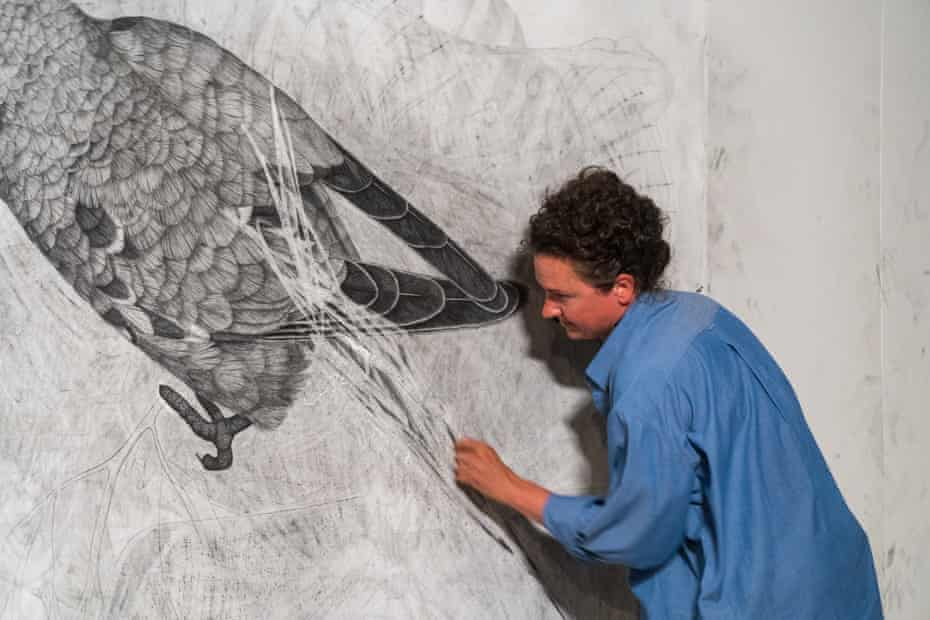Lucienne Rickard erases the swift parrot.