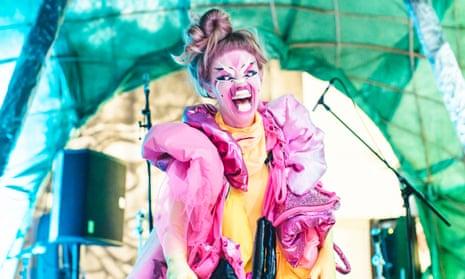 Aja performing at Supersonic festival in Birmingham.
