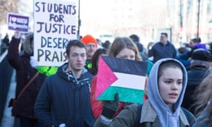 Northeastern protest Palestine group