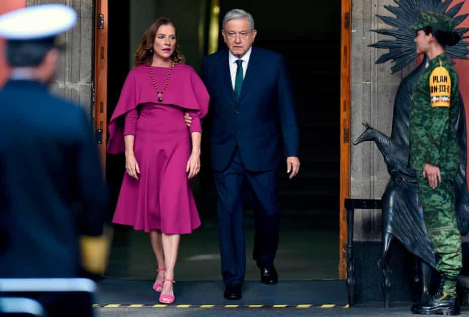 Andrés Manuel López Obrador, pictured with his wife, Beatriz Gutiérrez Müller