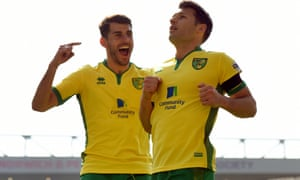 Norwich City's Wesley Hoolahan celebrates scoring their second goal