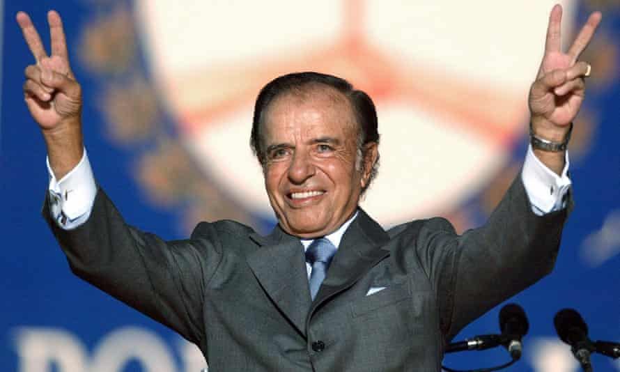 Former Argentine president, Carlos Menem, has died in Buenos Aires.