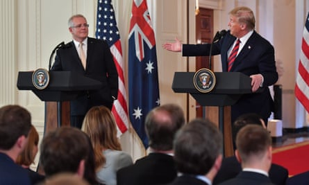 Scott Morrison and Donald Trump