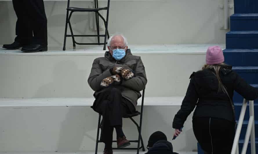 Bernie Sanders was accused of sexism for his posture during Joe Biden's inauguration.