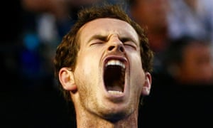 Murray reacts.