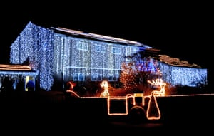 This year, residents of Trinity Close have covered their homes with more lights than ever before