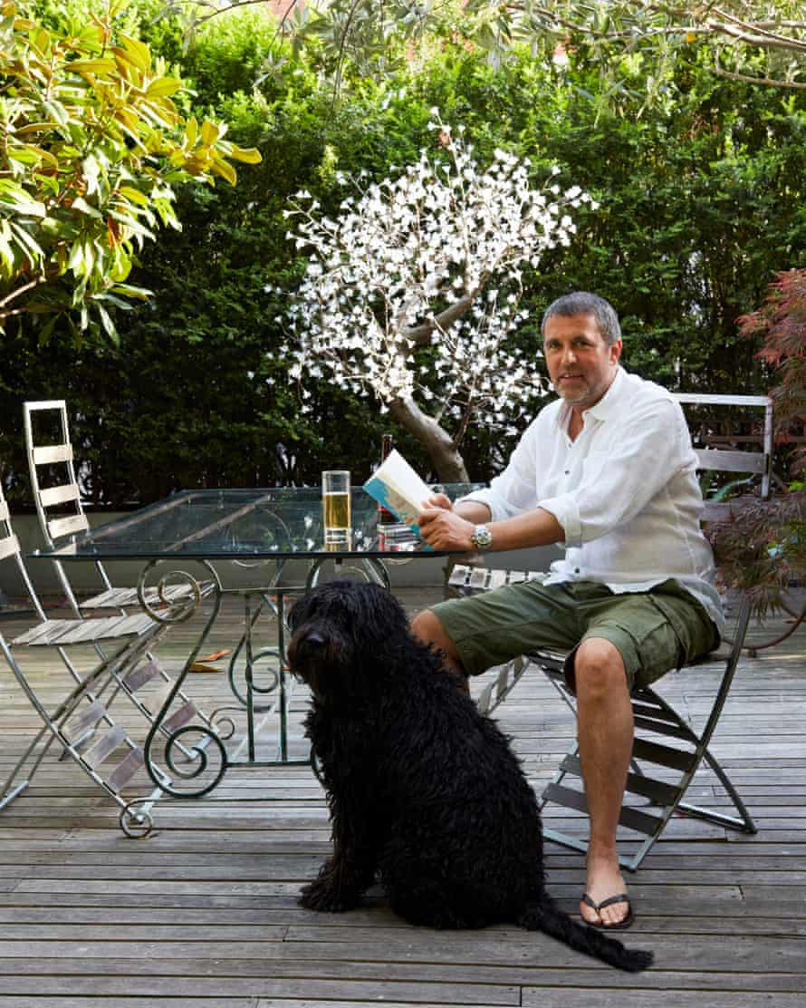 'I've learnt that it's good to think big.' Owen Pacey relaxes with Maggie.