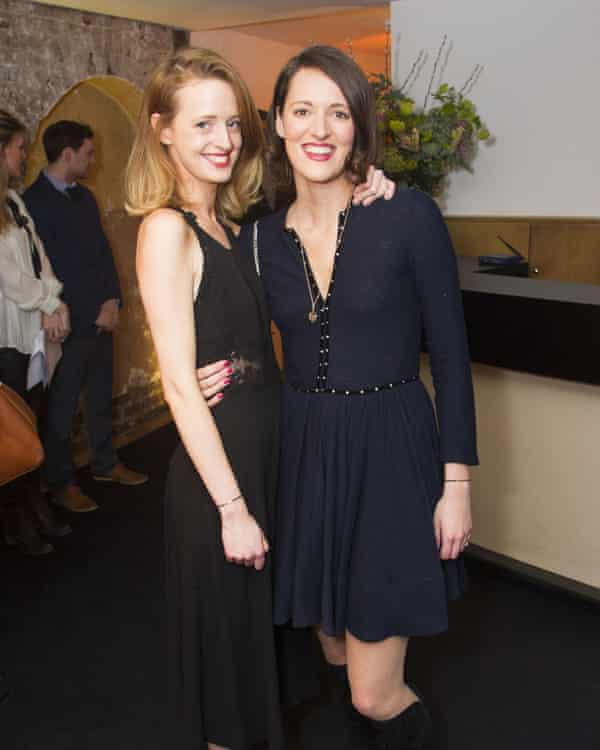 Phoebe Waller-Bridge with her sister Isobel, left, the TV and film composer.