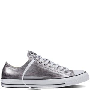 Metallic trainers, £47 converse.com