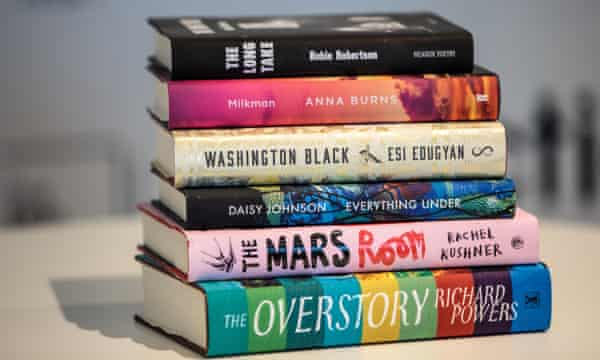The Man Booker 2018 shortlisted books.