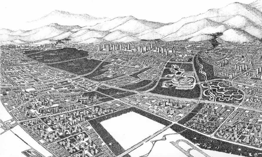 Victor Gruen's 1966 masterplan for Tehran.
