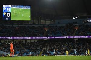 The final score of 9-0  is shown on the scoreboard.