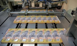 $50 Australian notes being printed.