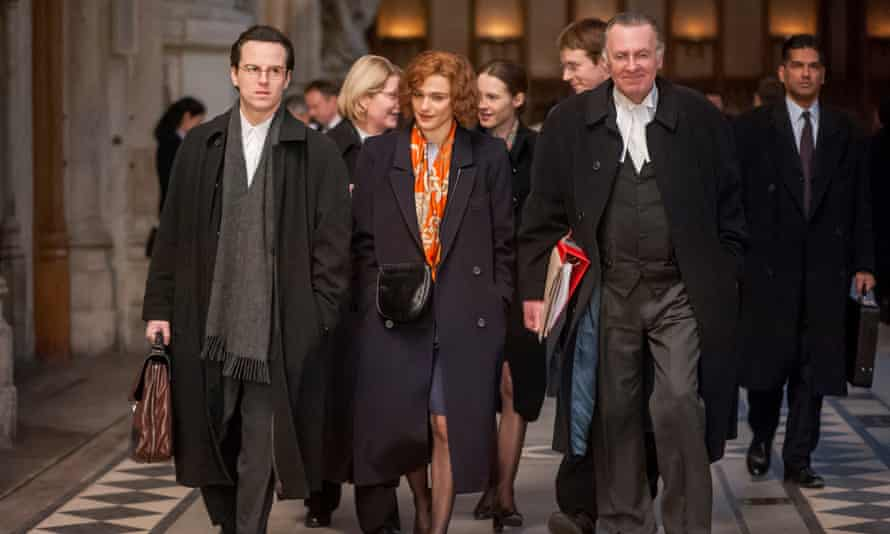 Refreshingly clear-headed … (l to r) Andrew Scott, Rachel Weisz and Tom Wilkinson in Denial