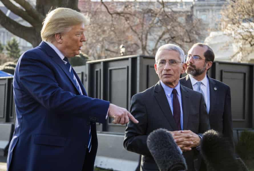 'Anthony Fauci, the longtime leader of the National Institute of Allergy and Infectious Diseases, has been telling the president repeatedly that developing the vaccine will take at least a year and a half.'
