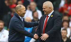 Warren Gatland (right) is likely to have several options this year, while Eddie Jones could leave his England post after the World Cup.