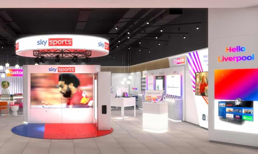 Sky's new UK stores aim to bring 'service, innovation and convenience all in one place, under one roof'.