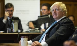 Boris Johnson at the Houses of Parliament on Monday.