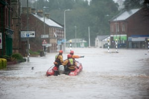 Appleby in Cumbria has burst its banks. A rescue operation underway, 50 homes have already been evacuated.