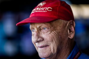 Lauda remained a prominent face on the F1 circuit. He's pictured here at the Grand Prix of Japan at Suzuka in 2017.